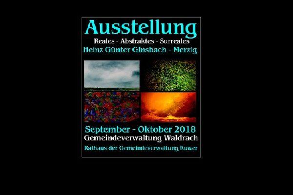 Ausstellung von H.G. Ginsbach in Waldrach.