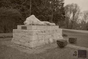 """""""Der Löwe von Souville"""" - Denkmal an der Stelle des weitesten deutschen Vorstosses."""