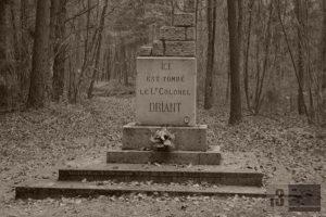 Gedenkstein an der Stelle, an der Oberst Driant in den ersten Tagen des deutschen Angriffs fiel.