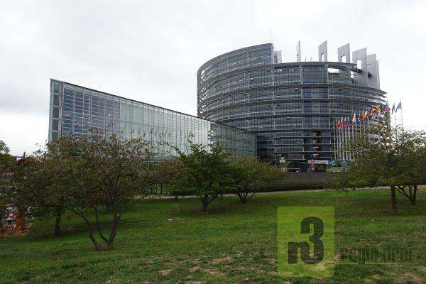 Das Europäische Parlamentsgebäude in Straßburg.