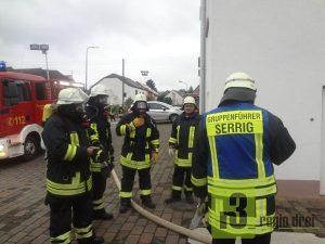 Hauptübung der Freiwilligen Feuerwehr Serrig.