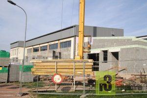 Baustelle Turnhalle Serrig im Oktober 2018
