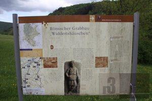 Römische Ausgrabungen in Serrig - Informationstafel
