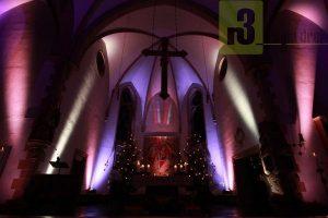 Illumination der Kirche St. Martin in Serrig. (Dezember 2015)