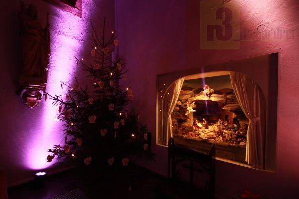 In der Pfarrkirche St. Martin wird wieder die  Weihnachtsgeschichte dargestellt.