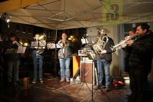Das Brass-Ensemble des Musikvereins Beurig begleitete die Eröffnung des Saarburger Christkindl-Markt 2018 musikalisch.