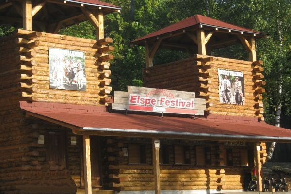 Eingang: Elspe Festival im Sauerland.