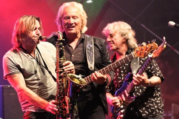 Bandmitglieder der Höhner in Merzig - v.l.n.r. Jens Streifling, John Parsons und Hannes Schöner.