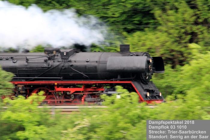 Dampfspektakel 2018: Dampflokomotive 03 1010, Bauart 2'C1'h3 Borsig 1940, DB Museum, Halle (Saale)