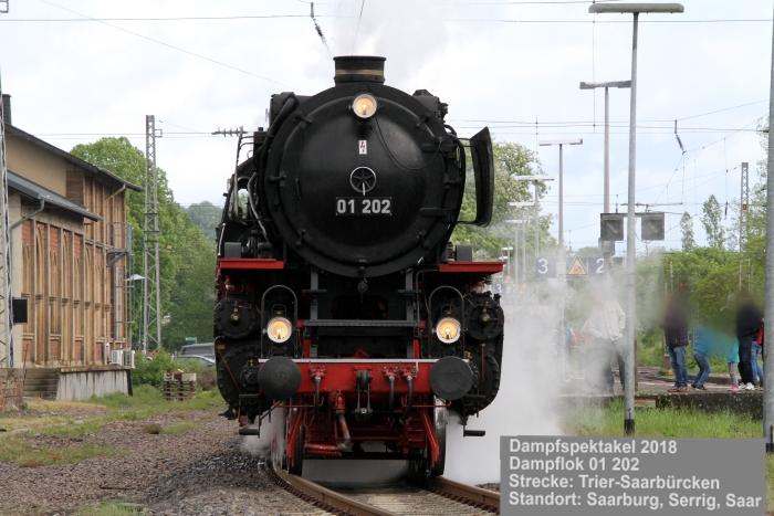 Dampfspektakel 2018: Dampflokomotive 01 202, Bauart 2'C1'h2, Henschel 1937, Verein Pacific 01 202, Lyss, Schweiz