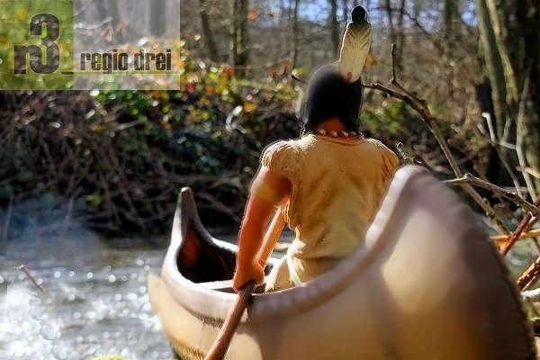 Der Kanuwettbewerb ist die Hauptattraktion am Wild-West-Tag.