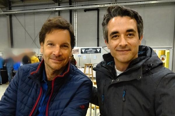 Spielen die Hauptrollen 2019 bei den Festspielen Burgrieden: Old Shatterhand-Darsteller Martin Strele (links) und Winnetou-Darsteller Max Feuerbach.