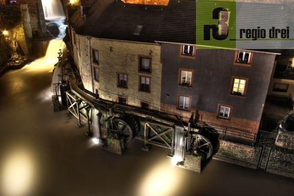 In  Saarburg drehen sich die Mühlräder der Hackenberger Mühle aus dem 13./14. Jahrhundert.