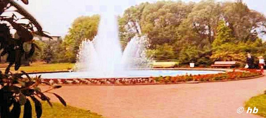 Brunnen im Merziger Stadtpark im Jahr 1971. Foto:Archiv