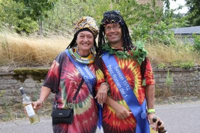 Mit dabei beim Jubiläumszugs in Wincheringen war auch das  Prinzenpaar der Sessiion 2011/2012:  Prinzessin Corneline I. und Prinz Romain I. Foto: hb