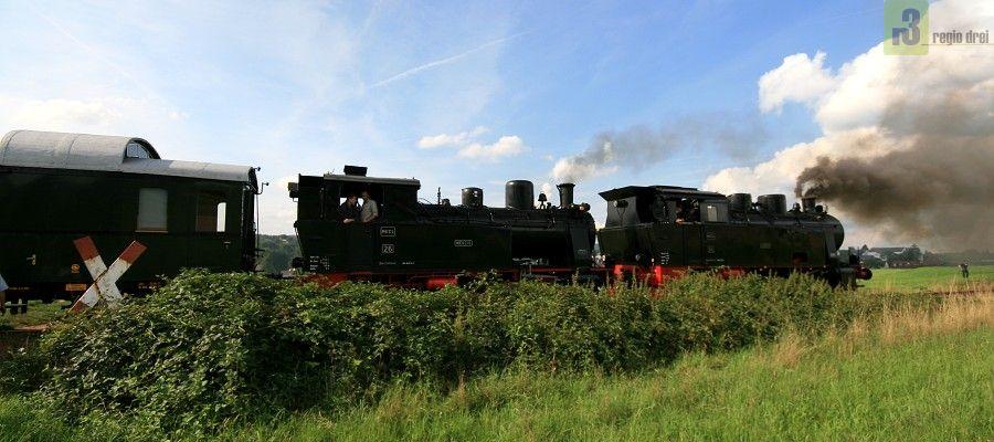 Dampfloks des Museums-Eisenbahn-Club Losheim auf Sommerfahrt. Foto/Archiv: Regiodrei.de