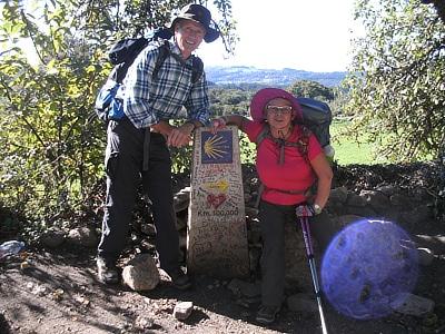 Nach  Santiago de Compostela in Spanien unterwegs: Vera und Klaus Rommelfanger aus Serrig. Foto: privat