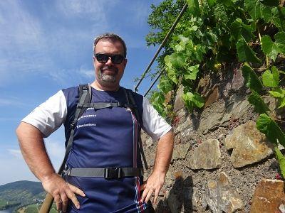 Dirk Martini wanderte wieder für regiodrei  auf dem Moselsteig.