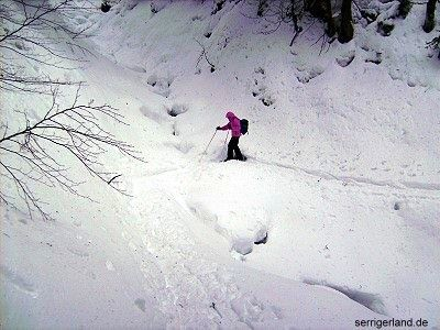 Auf Schneeschuhtour zur Burglhütte.