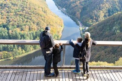 Die Aussicht vom Baumwipfelpfad Saarschleife Bildquelle: Erlebnis Akademie AG