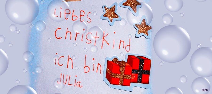 Weihnachten: Wunschzettel an das Christkind