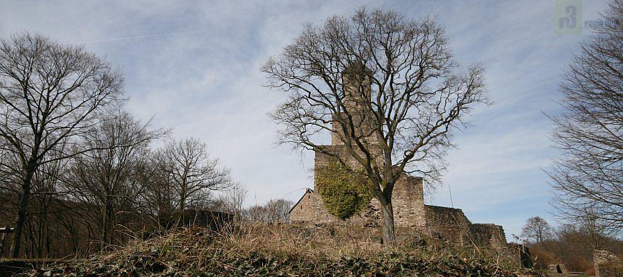 Turm der Burganlage Grimburg