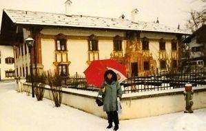 Pilatushaus in Oberammergau im Winter.