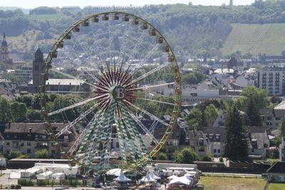 Riesenrad Bellevue in Trier.