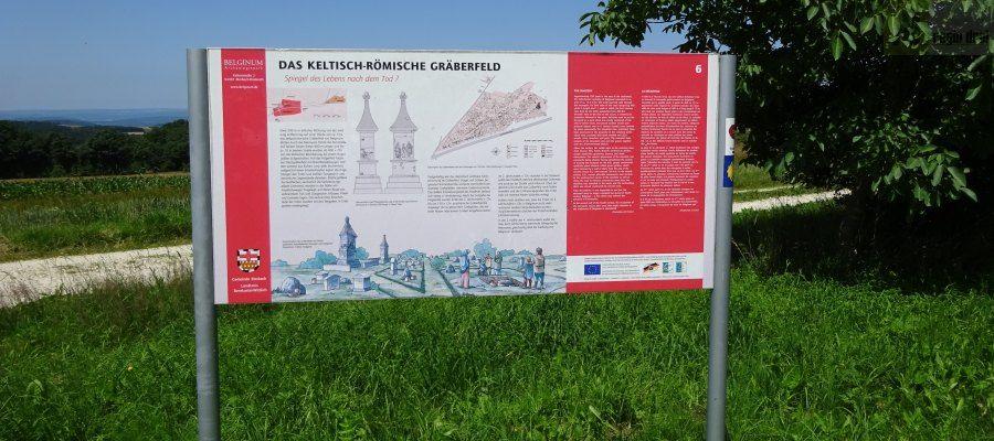 Infotafel Archaeologiepark Beginum